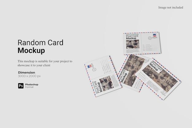 Mockup di carta casuale design isolato