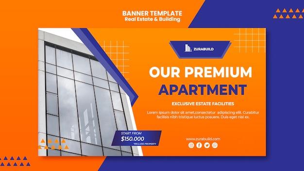 Modello di banner immobiliare e costruzione