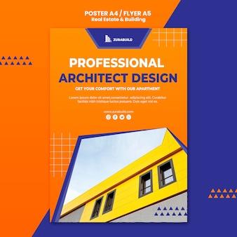 Modello di manifesto immobiliare e di costruzione
