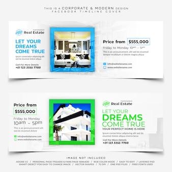 Banner di copertina della timeline di facebook immobiliare