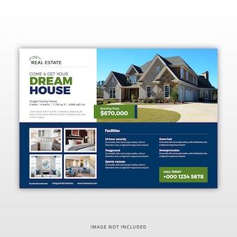 Modello di volantino immobiliare