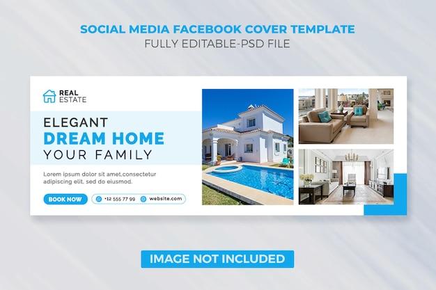 Modello di copertina dei social media e banner web per la casa immobiliare