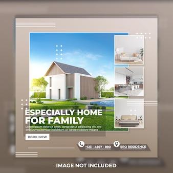 Post sui social media della casa immobiliare