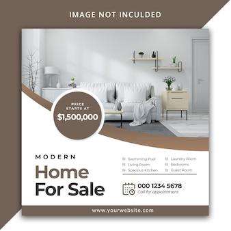 Modello di post immobiliare instagram