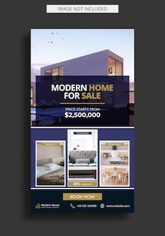 Modello di storia instagram immobiliare