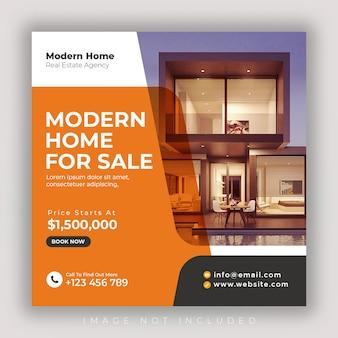 Modello di banner di social media immobiliare