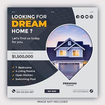 Modello di banner per social media immobiliare