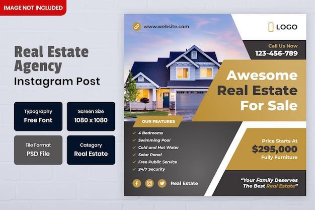 Modello di post sui social media immobiliari
