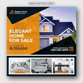 Annunci immobiliari social media post e banner web