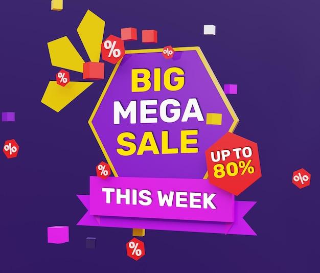 Grande mega vendita 3d realistica