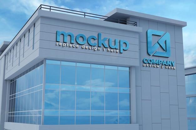 Mockup di costruzione 3d realistico