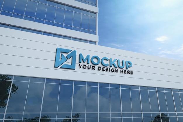 Mockup di edificio 3d realistico