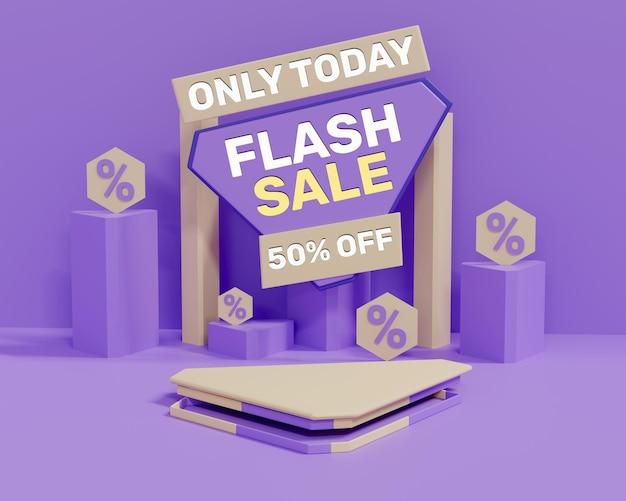 Vendita flash 3d realistica colorata