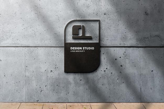 Mockup di logo 3d realistico su marmo