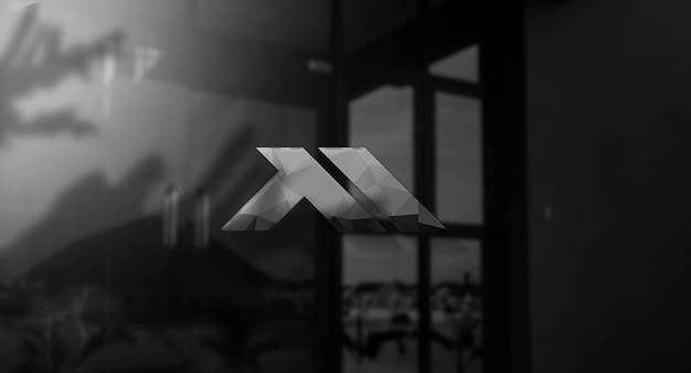 Mockup di logo 3d realistico sulla parete