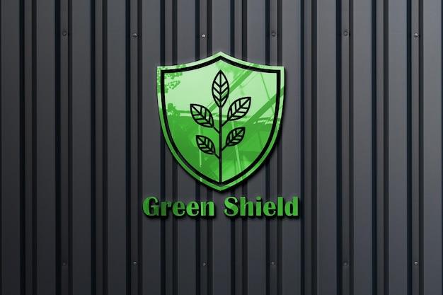 Mockup di logo 3d realistico
