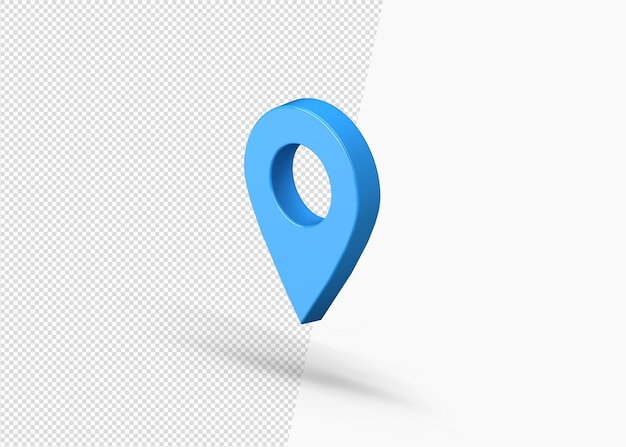 Icona 3d realistica del puntatore della mappa 3d isolata