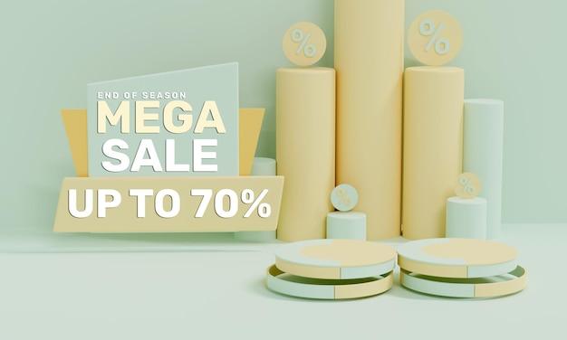Mega vendita 3d realistica colorata