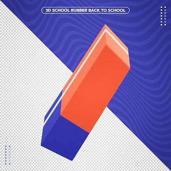 Gomma 3d realistica torna a scuola per la composizione
