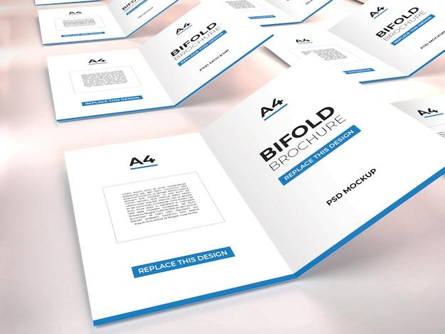 Modello realistico di brochure bifold a4