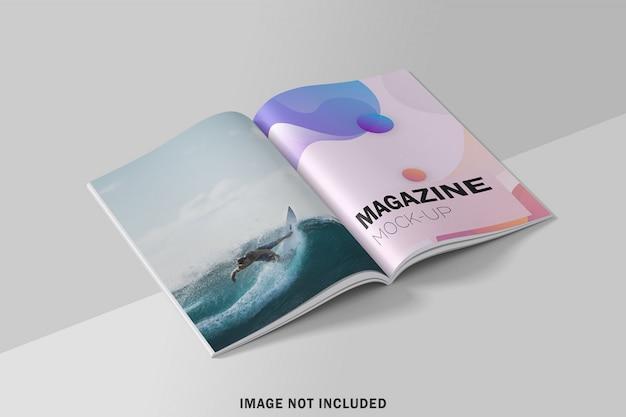 Realistico modello di rivista a4