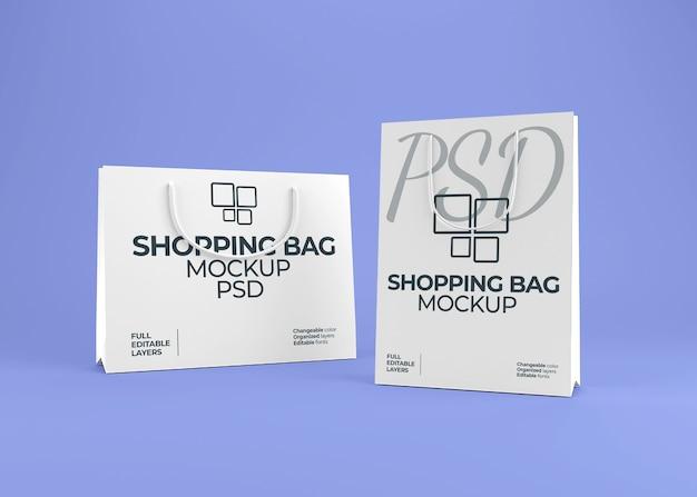 Mockup di shopping bag di carta bianca realistico