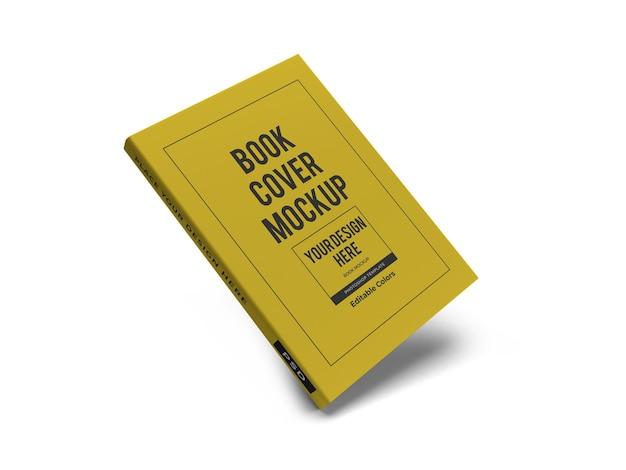 Modello di mockup 3d per copertina di libro realistico isolato
