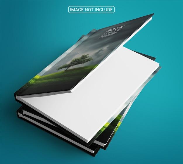 Design realistico del mockup della copertina del libro