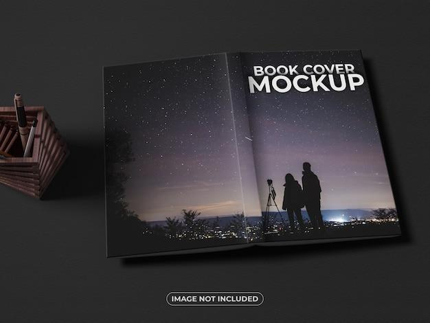 Mockup di copertina anteriore e posteriore del libro realistico