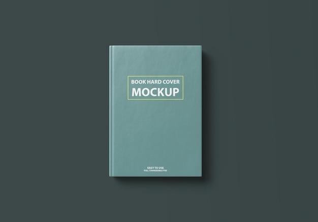 Mockup con copertina rigida del libro realistico