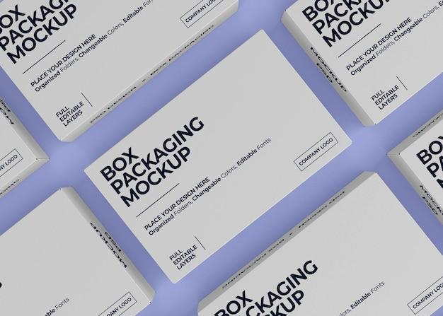 Realistico design mockup box isolato