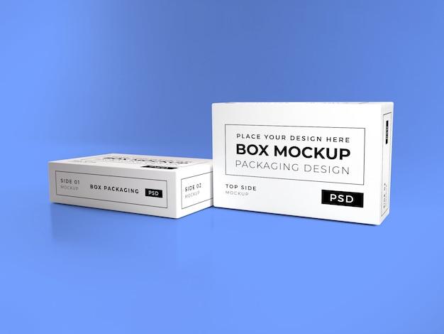 Mockup di imballaggio scatola realistica