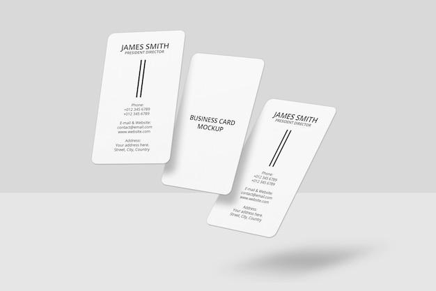 Design realistico del modello di biglietto da visita