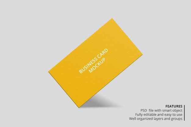Realistico design mockup biglietto da visita