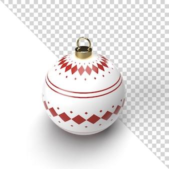 Rendering realistico della palla di natale con il modello dell'oro isolato
