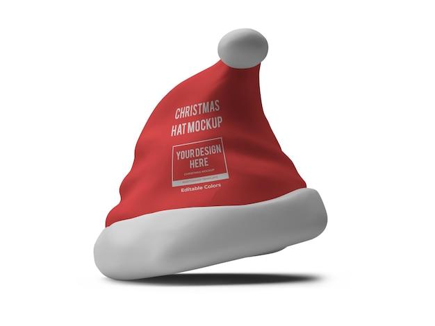Modello realistico del modello del cappello di natale isolato