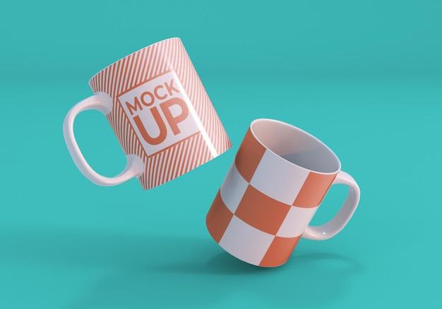 Design realistico del mockup della tazza bianca pulita
