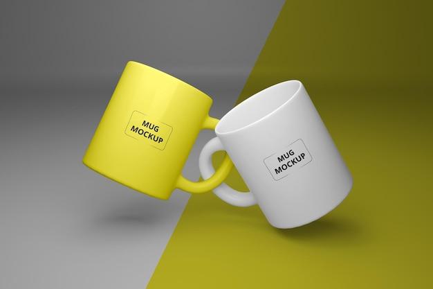 Mockup di tazza di caffè realistico premium psd