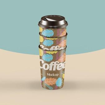 Mockup realistico di una tazza di caffè
