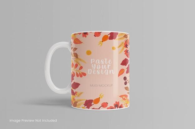 Rendering 3d di mockup di tazza da caffè realistico