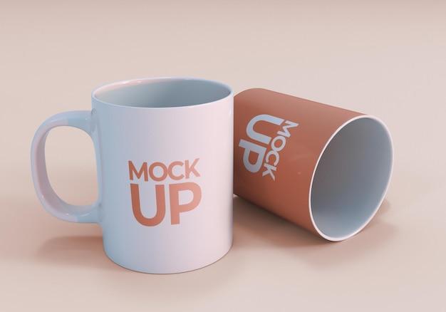 Design realistico del mockup della tazza da caffè