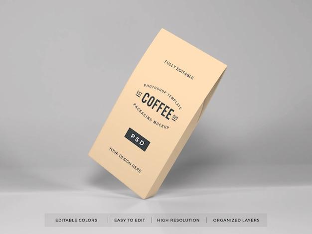 Mockup di confezionamento di caffè realistico