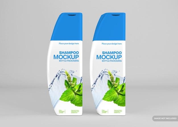 Mockup di bottiglia di shampoo cosmetico realistico
