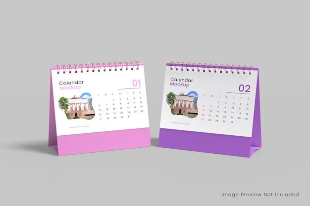 Calendario da tavolo realistico mockup 3d rendering