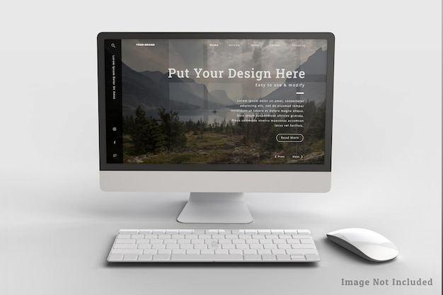 Realistico desktop design mockup design