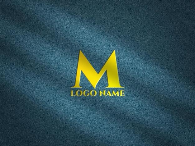 Mockup di logo in rilievo realistico con sovrapposizione di ombre