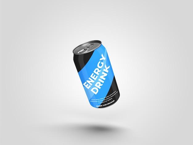 La bevanda energetica realistica può bere il mockup