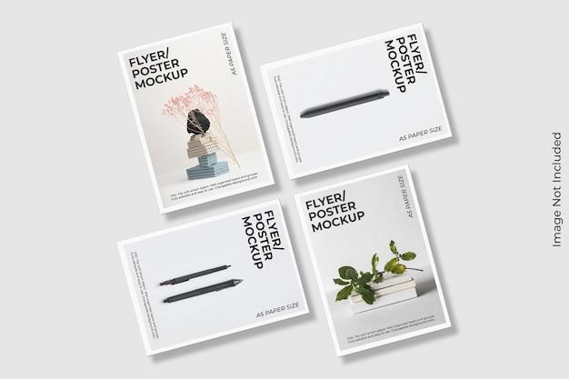 Realistico flyer brochure mockup design