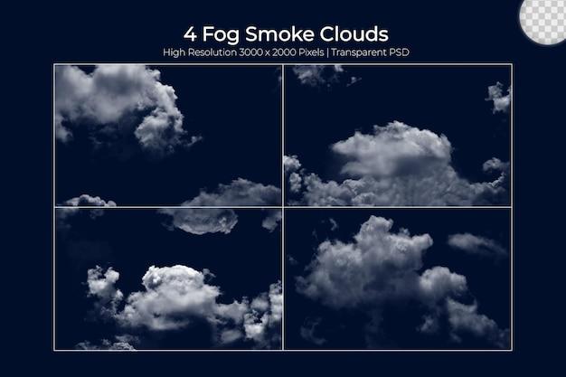 Nebbia realistica vapore nebbie nuvole se
