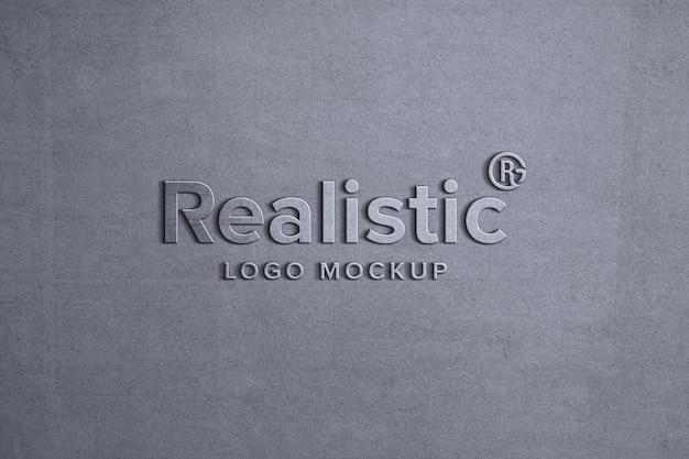 Mockup logo realistico muro grigio